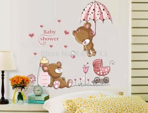 Oso-lindo-etiqueta-de-la-pared-niños-decoración-de-la-pared-escaparate-decoración-que-cubre