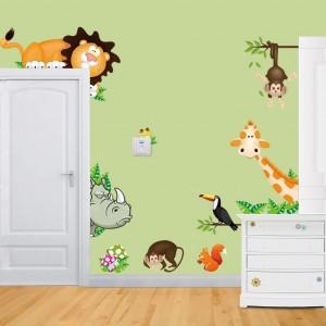 -font-b-Jungle-b-font-Wild-Animals-font-b-Wall-b-font-Decals-font-b