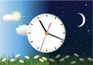 שעון וירח לילה
